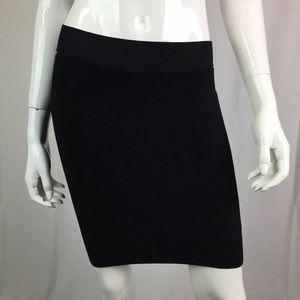 Bebe Stretchy Ribbed Textured Mini Pencil Skirt